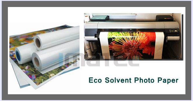 30M Eco Solvent Media RC Glossy Photo Paper For Roland Mimaki Printer