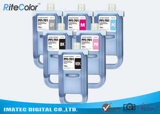 Chiny Pigment Wide Format Inks / 700mL Ink Cartridges for Canon iPF8400S iPF8000 Printers fabryka