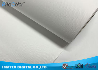 Chiny 260g Eco Solvent Media , Bright White Matte Polyester Digital Printing Canvas Roll dystrybutor