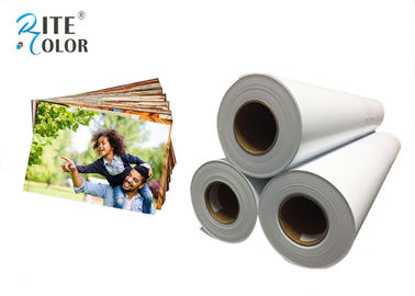 Chiny Smooth 190gsm Resin Coated Photo Paper , Large Format Silky Photo Paper For Inkjet Printer fabryka