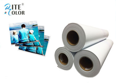 "Chiny 42"" Width RC Glossy Photo Paper , White Inkjet Photographic Paper Roll fabryka"